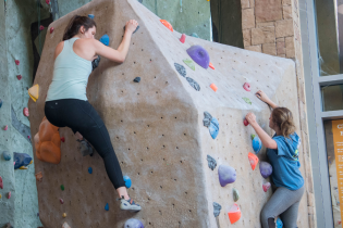 students_rock_climbing