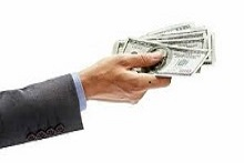 cash hand out